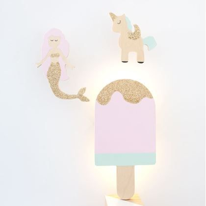 The Wall Collective Ice cream Night Light emits a soft glow, perfect to be left on all night while your little one sleeps.