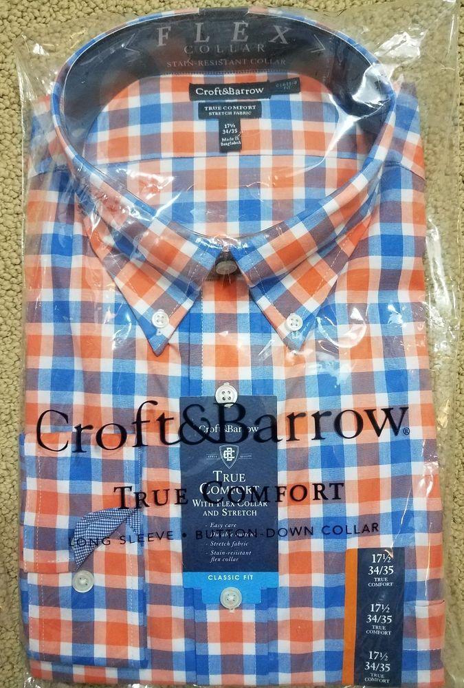 Men/'s Tall Breeze Collar Button Down Short Sleeve Plaid Shirt Comfortable Design