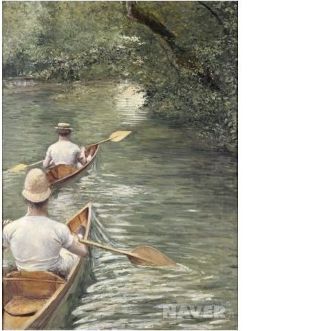 카누 (Les Perissoires)   귀스타브 카유보트(Gustave Caillebotte)   1878  렌 미술관 소장