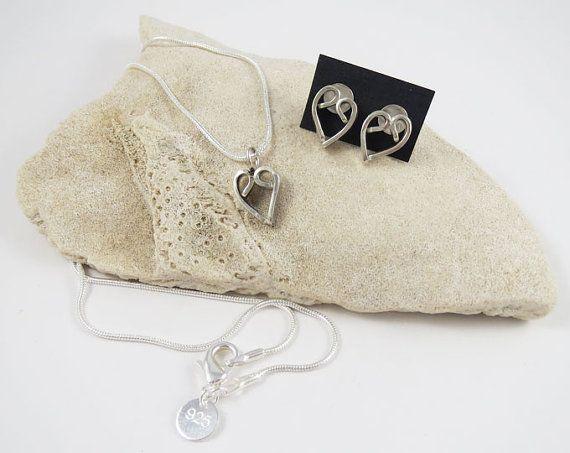 Handmade 925 Sterling Silver Heart Earrings by LittleSomethingsAnn