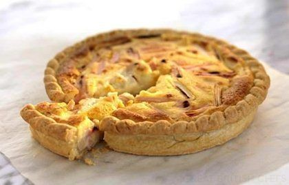 Rhubarb & Crème Fraiche Tart Recipe - Great British Chefs