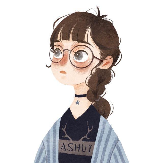Girl With Glasses Character Illustration Tumblr Art Drawings Illustration