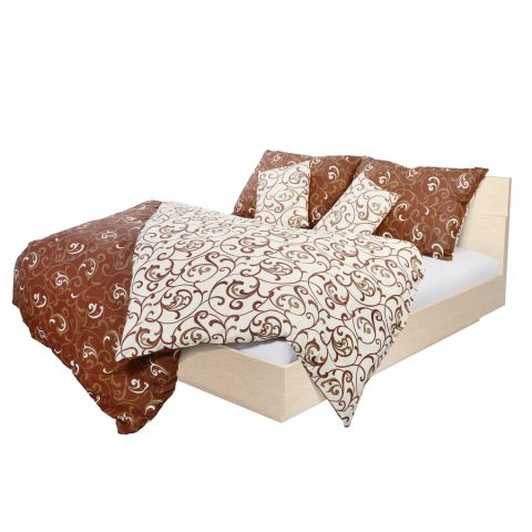 Holey Quilt® Bavlnená obliečka Mimosa brown 140x200,70x90