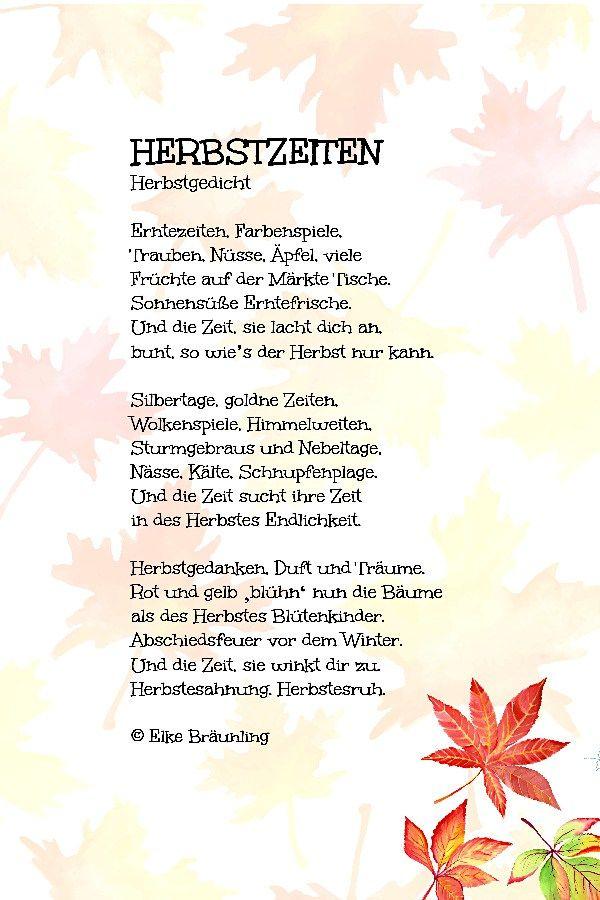 Herbstzeiten Herbstgedicht Gedicht Herbst Gedicht Sommer