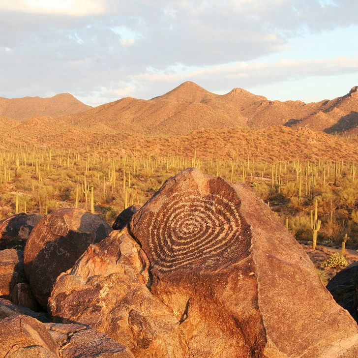 Spiral Petroglyphs on Signal Hill Trail (11 Beautiful Things to Do in Saguaro National Park).