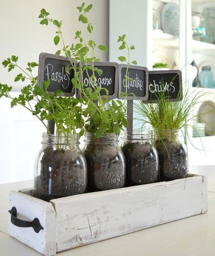Tabletop Garden | Your backyard might be out of commission until next spring, but that doesn't mean you can't enjoy some fresh greenery during these colder months. Breathe some life into your space with lush indoor plant ideas.