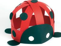 "Ladybird hat ("",) spring bugs art craft  for a VERY low number day"