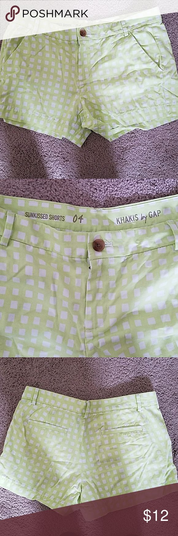 Gap shorts Lime green shorts with white boxes all over. No flaws! gap Shorts