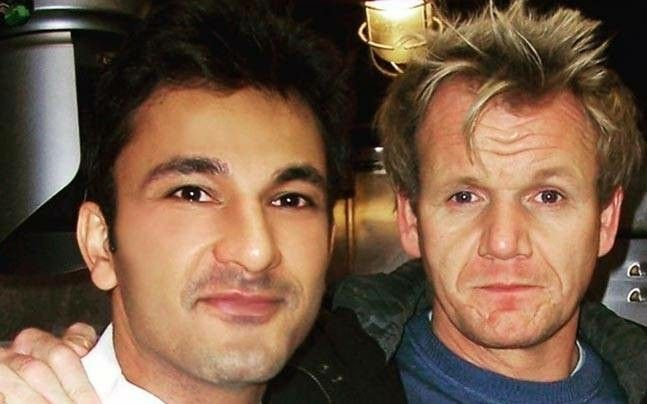 Vikas Khanna with culinary legend Gordon Ramsey