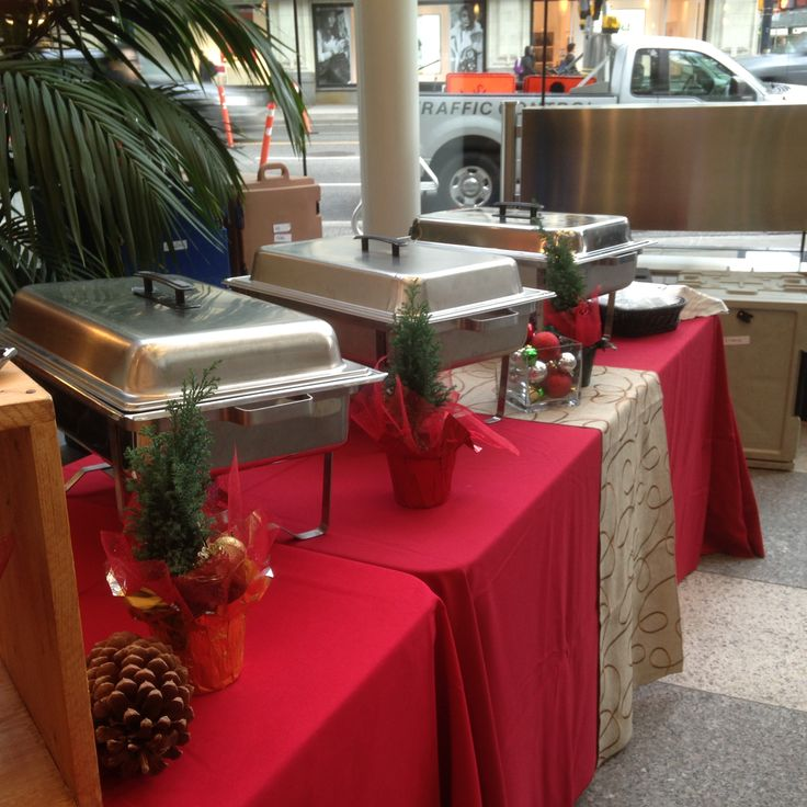 Christmas Brunch Buffet featuring Veggie Fritatta, Maple Sausage, Breakfast Egg Sliders. www.pacificcoastcateringgroup.com