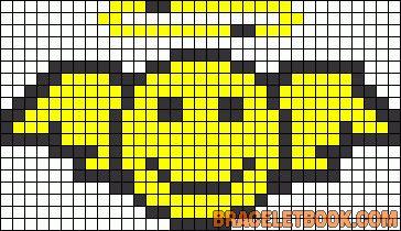 Smiley angel perler bead pattern