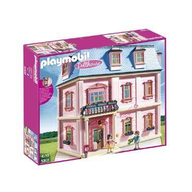 PLAYMOBIL Dollhouse herenhuis 5303  Dit prachtige Playmobil Dollhouse herenhuis is voorzien van 6 kamers een balkon en een functionerende deurbel. PLAYMOBIL-nr. 5303  EUR 104.99  Meer informatie