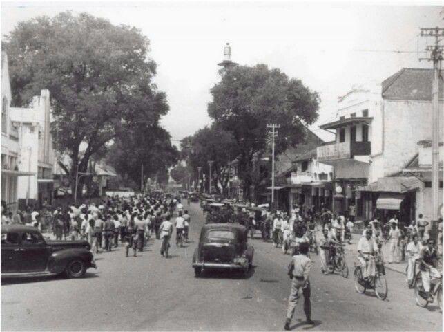 Suasana Malioboro yang pada 1 April 1948.