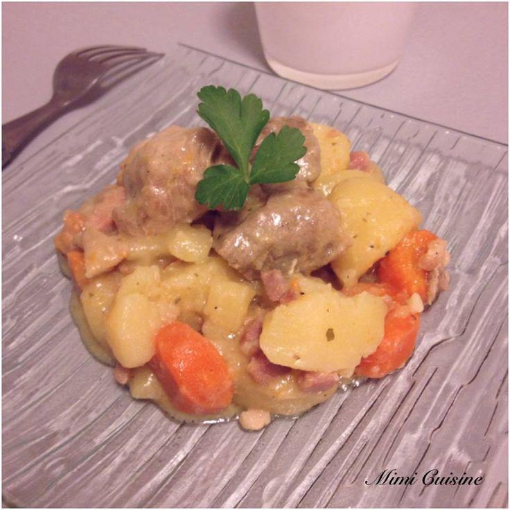 Sauté de porc Roquefort pommes de terre carottes Cookeo de chez Moulinex. Retrouvez pleins de recettes faites au Cookeo sur mon site Mimi Cuisine