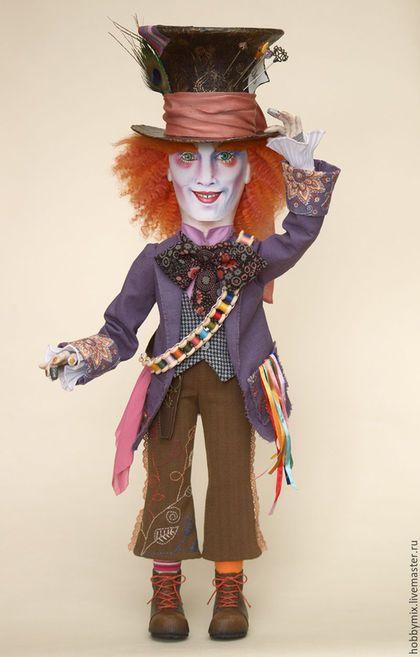 Купить Безумный Шляпник-3 - безумный шляпник, алиса в стране чудес, коллекционная кукла
