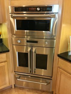 For our next kitchen. Combo conv/microwave, + French door oven and warming drawer.