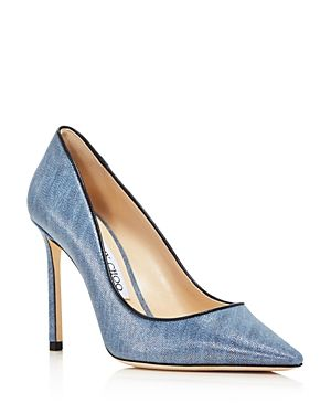 dfc543fc898 Love this by JIMMY CHOO Women S Romy 100 Denim Pointed Toe High-Heel Pumps
