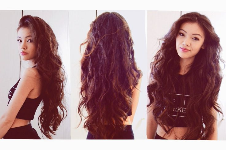 Heatless Wavy Hair.