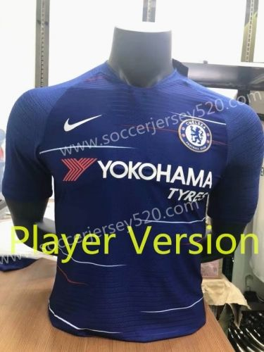 1c839d957 Player Version 2018-19 Chelsea Home Blue Thailand Soccer Jersey AAA ...