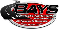 PRIMARY CONTACT: Troy Roberts Business Name: Bays Complete Auto Repair Veteran (Yes or No): Yes Branch of Service: Army Business Contact Email: Troy2492@hotmail.com Business Phone Number: 602-404-2000 Business Website Address: http://www.baysauto.com Short Business Description: Bays Complete Auto Repair is a Preferred Angie's List Auto Repair facility in Phoenix, AZ, an authorized Goodyear tire dealer, PHH Fleet services authorized provider and a U-HAUL fleet authorized repair facility. Our…