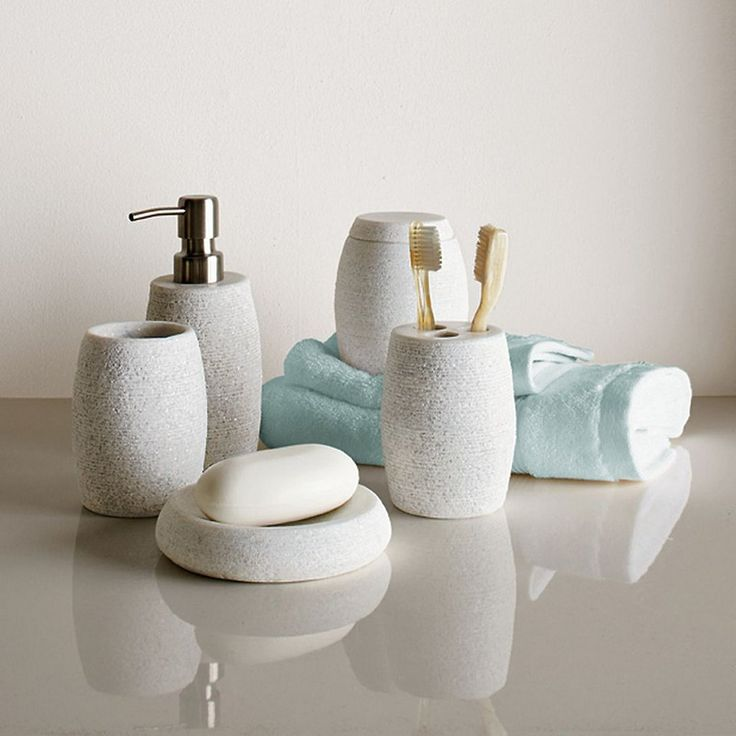 hollis bath accessories our chic stoneware bath accessories help create a spa like oasis