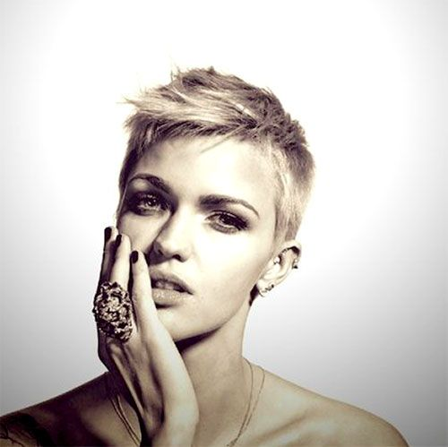 Ruby Rose pixie haircut pictures.  Cute for when I go back to being super short!