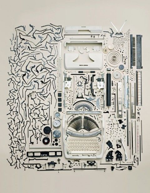 Old Typewriter, by Todd McLellan: Old Typewriters, Inspiration, Toddmclellan, Disassembl Typewriters, Apartment, Graphics, Collection, Todd Mclellan, Photography
