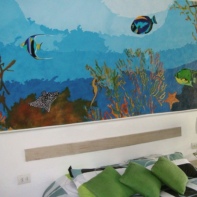 Mural acuario infantil.