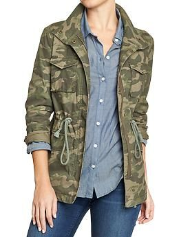 GOT IT! Sort of... Found a similar Free People jacket at the Gilt City Warehouse Sale! - Women's Camo Surplus Jackets   Old Navy