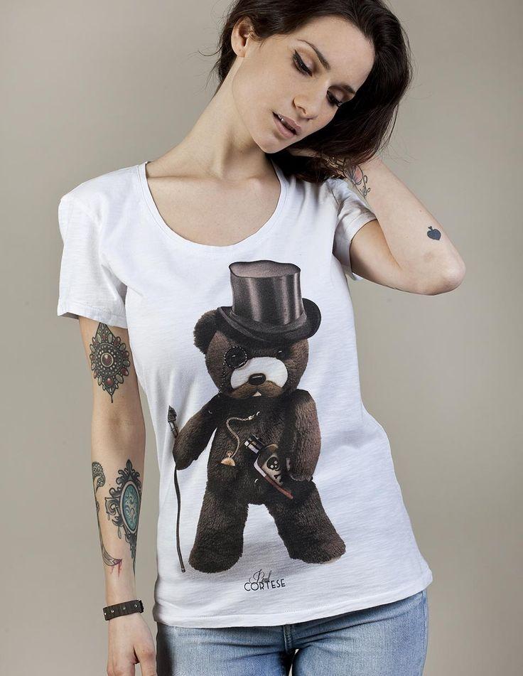 DANDY BEAR #woman #tshirt #beartoys #style #fashion #moda #womenfashion #womenstyle #madeinitaly