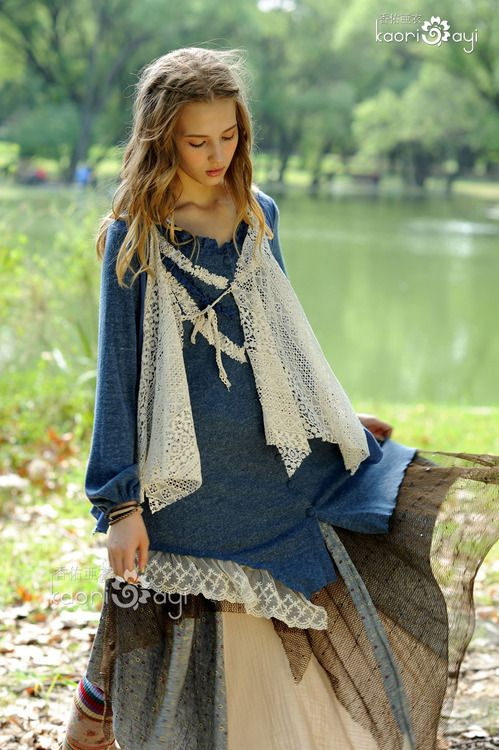 Mori girl - I'm slightly obsessed with denim tunic dresses