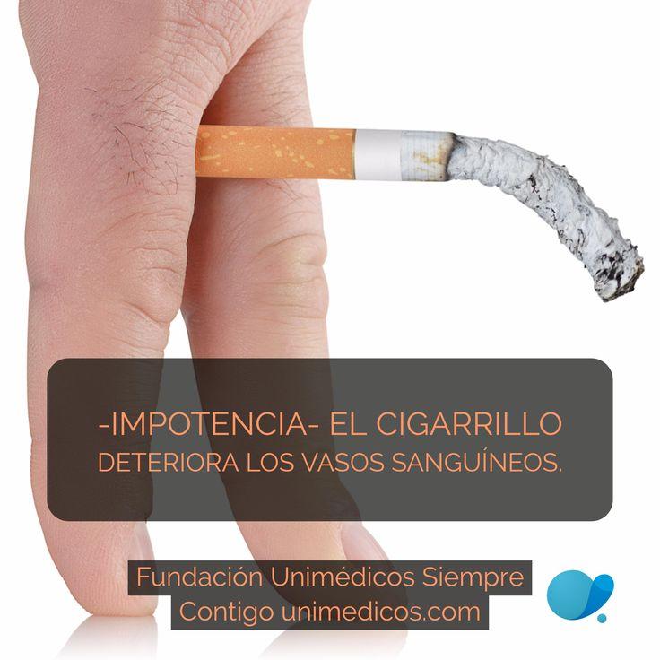 El cigarrillo deteriora los vasos sanguíneos #Impotencia #FundaciónUnimédicos #EMASiempreContigo
