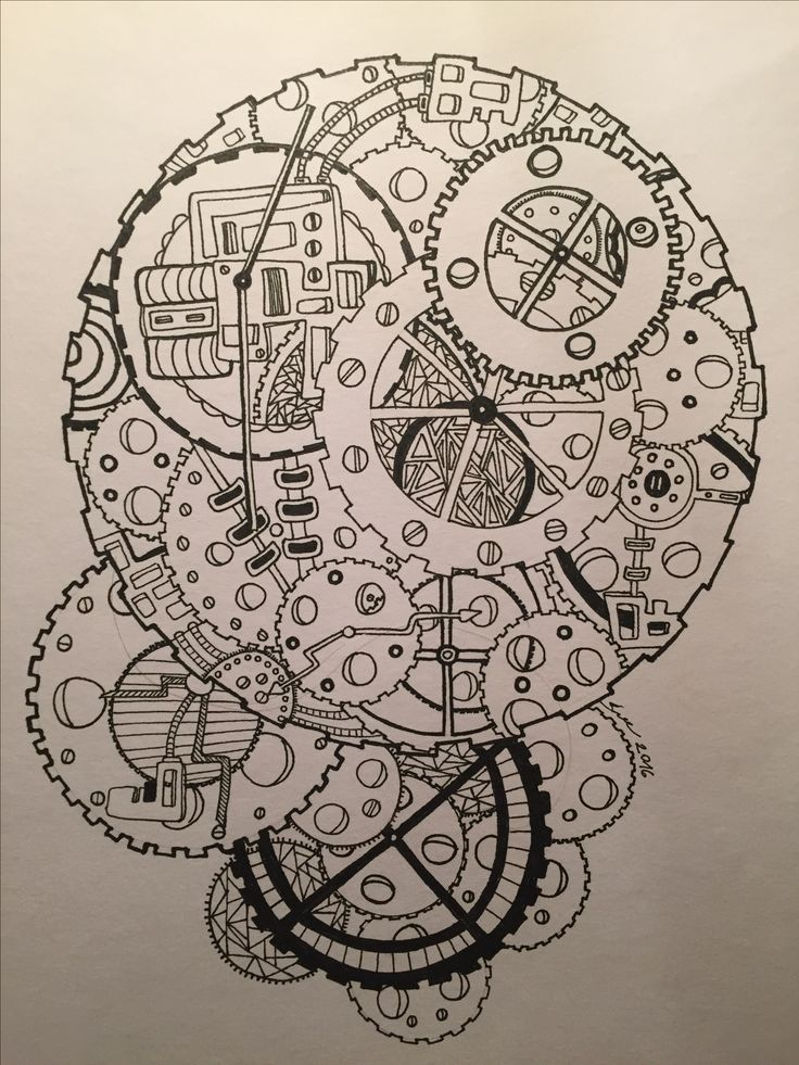 Zentangle / paint / clock / time