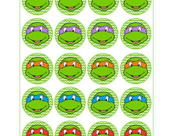Instant Download Turtles for Balloon Stickers Lollipop by Inulja