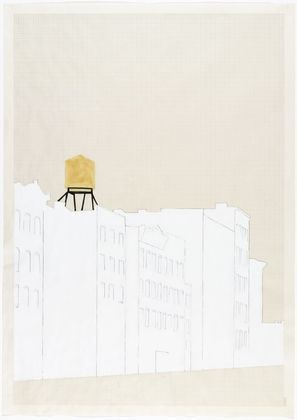 Rachel Whiteread. Drawing for Water Tower, II. (1997)