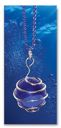 Blue Marble Pendant by The Spirit of Water