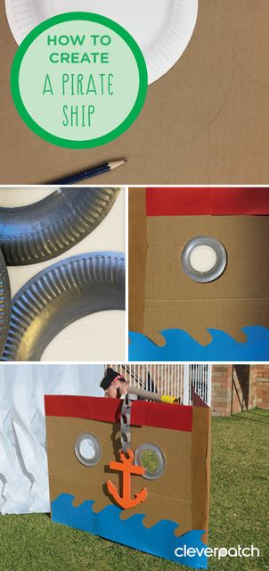 Ahoy there Mateys! Here's a great way to encourage imaginative play indoors and out!