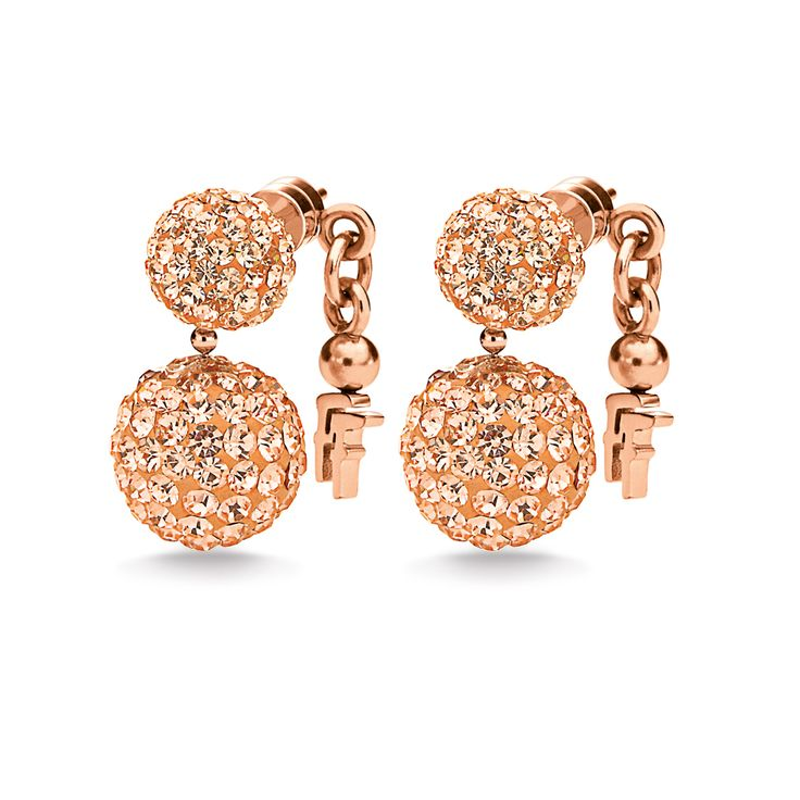 BLING CHIC EARRINGS Rose Gold Plated - 3E1T013RS