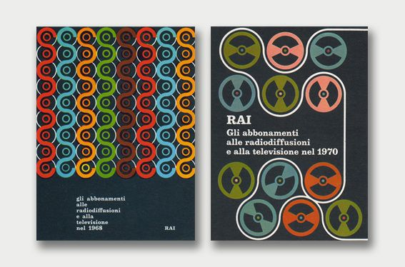 Sergio Ruffolo, Rai 1968 & 1970  Copertine Annuario Rai. Via Aqua-Velvet