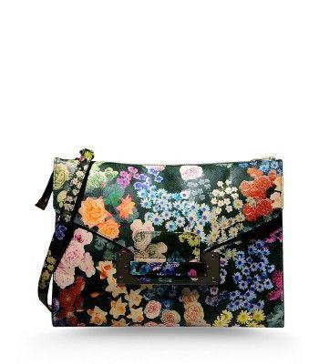 Sophie Hulme Floral Print Leather Bag