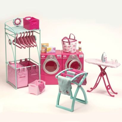 Inspiration for Washer/Dryer set for AmerGirl Dolls (photo from Doll Diaries)