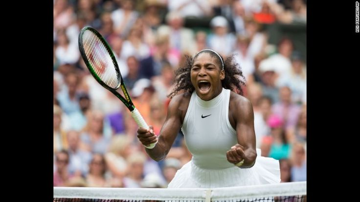 """Serena Williams celebrates her seventh Wimbledon title on Saturday, July 9. The American defeated Germany's Angelique Kerber <a href=""""http://edition.cnn.com/2016/07/09/tennis/wimbledon-serena-williams-angelique-kerber-tennis/"""" target=""""_blank"""">for her 22nd Grand Slam </a>-- tying Steffi Graf for the most in the Open era."""