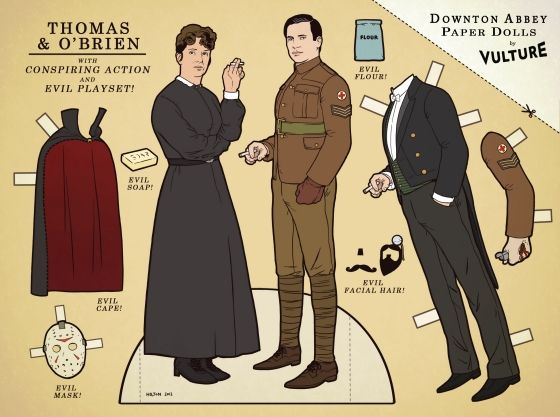 Downtown Abbey paper dolls