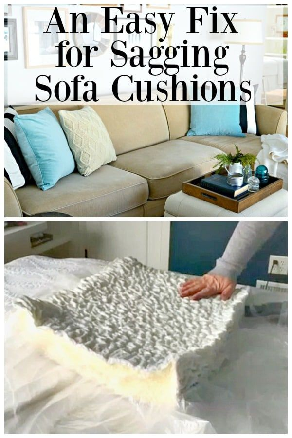 How To Fix Couch Cushions That Sag Cushions On Sofa Couch