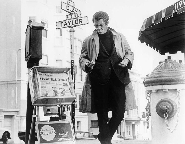 Steve McQueen and San Francisco in Bullitt (1968)