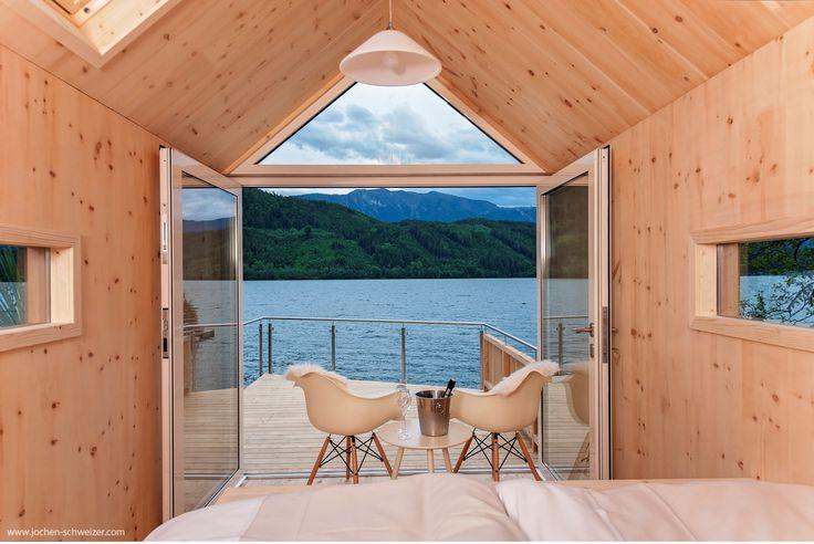 Verbringe eine Nacht unter dem #Sternenhimmel am #millstätter #see , denn Du beziehst für eine Nacht eine kuschlige See #hütte mit Panorama Dachfenster! #übernachtung #besonders #kurztrip #schlafen