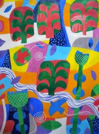 Mark  Warren  Bluenotes - 2013   Acrylic on paper   76 x 56 cm