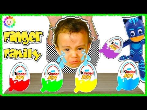 Bad Baby Crying & Learn Colors Kinder Eggs Surprise PJ Mask Superheros F...