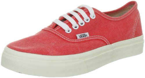 Vans AUTHENTIC SLIM Washed Hot Coral Womens Shoes 7 Men  85 Women >>> You can get more details by clicking on the image.(This is an Amazon affiliate link and I receive a commission for the sales)