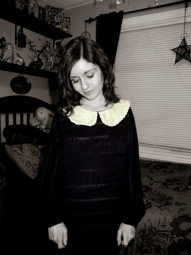 Collared sweater.